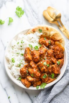 A simplified version of the popular Indian dish, this Easy Butter Chicken recipe has a creamy tomato sauce, all cooked in one pan in less than half an hour! Fabulous comfort food and great for a healthier version of traditional takeout at the weekend Indian Food Recipes, New Recipes, Dinner Recipes, Healthy Recipes, Ethnic Recipes, Indian Foods, Indian Snacks, Curry Recipes, Rice Recipes