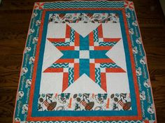 NFL Miami Dolphins Quilt by GewalyArt on Etsy