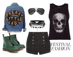 """""""Wacken Open Air"""" by cutopia ❤ liked on Polyvore featuring Pierre Balmain, Dr. Martens, ElevenParis and Yves Saint Laurent"""