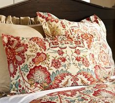 Cora Kalamkari Duvet Cover & Sham potterybarn-love these colors