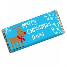 Personalised Rudolph Chocolate Bar  from Personalised Gifts Shop - ONLY £5.99