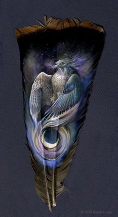 .feather painting....