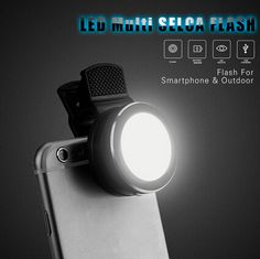 Mini #Portable 6 LED Fill-in Flash Selfie #Light For Apple iPhone 6 6plus 5s   Samsung Galaxy S5 S6 edge Note 4 and all other #MobilePhones ($12.29) by free shipping!