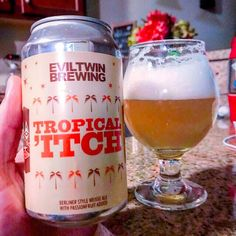 Tropical 'Itch by @eviltwinbrewing  Berliner Weisse with big sour fruit and wheat - dialed up! Crazy that next year Evil Twin will have a real brewery all their own in Queens! . #eviltwinbrewing #queensbeer #berlinerweisse #craftbeer #craftbeerporn #beer #beerstagram #beertography #instabeer #beernerd #beerpic #fanaticbeer #beerme #goodbeer #thebeergame #goodbeerhunting #beergasm #iheartbeer #craftnotcrap #untappd #beer_community #spreadthebeer #craftbeer