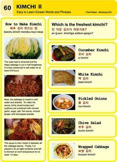 60 learn korean hangul Kimchi II