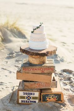 Sweet little rustic cake with extra tall bottom tier. White frills with rope detailing and light gold flecks over a nude blush with a vine of sugar ivy. Photo by Ivy & Gold Photograhy. Rustic Cake, The Blushed Nudes, Cake Shop, Custom Cakes, Cake Ideas, Ivy, Wedding Cakes, Romantic, Sugar