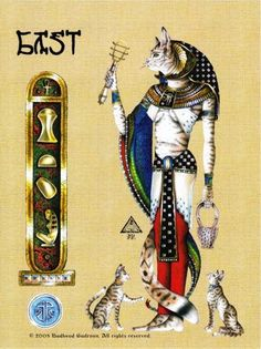 Bast Egyptian Cat Goddess by Badhead Gadroon Art Postcard   eBay