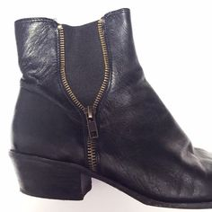 Topshop Black suede chunky heel chelsea boot 6.5 From topshop real ...