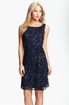Pisarro Nights Sequin & Bead 1920s Style Dress $128.00