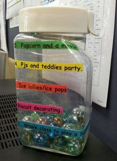 Classroom management marble jar rewards