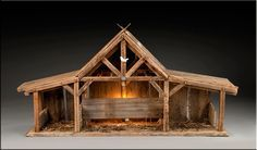 ideas about Nativity Stable Christmas Crib Ideas, Christmas Manger, Christmas Nativity Scene, Christmas Villages, Christmas Projects, Holiday Crafts, Christmas Ornaments, Christmas Stencils, Christmas Planning