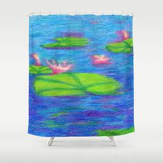 Beautiful Shower Curtain  Water Lilies by ArtfullyFeathered