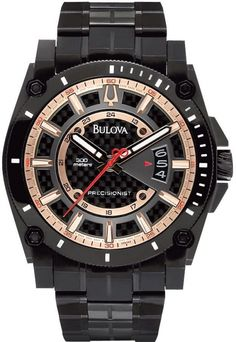 Bulova 98B143 Precisionist stainless steel mens watch