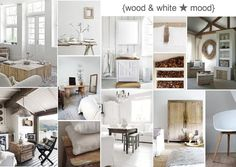 Wood + White Interior Inspirations // natural, neutral, raw beauty mood board created on SampleBoard http://sampleboard.com/boarddetail/17710#