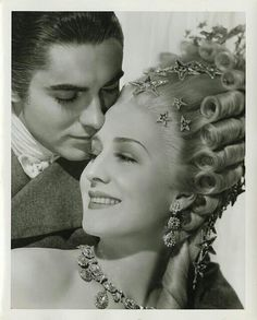 Tyrone Power and Norma Shearer in Marie Antoinette wearing Joseff Hollywood Jewelry Hollywood Jewelry, Old Hollywood Glamour, Golden Age Of Hollywood, Hollywood Stars, Classic Hollywood, Vintage Hollywood, Hollywood Icons, Hollywood Celebrities, Tyrone Power