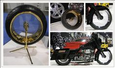 """The first bike done with a set o the production Clear Wheel - street Glide  by Matt Hotch - 20x10.5"""" 24k Gold Clear Wheel also shown while at SEMA in  2007"""