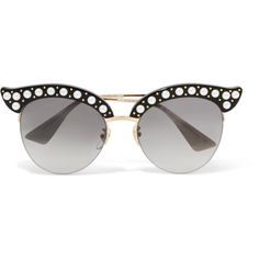 d10b7aab74f Gucci Embellished cat-eye acetate and gold-tone sunglasses ( 710) ❤ liked