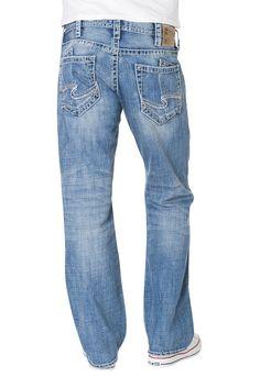 SILVER Jeans Sale Buckle New Mid Rise Zac Relaxed Straight Leg Jean 32 x 34 #SilverJeans #ClassicStraightLeg