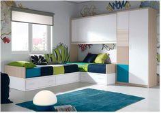 Dormitorio juvenil. Youth Bedroom #muebles #furniture #Málaga http://www.decorhaus.es/