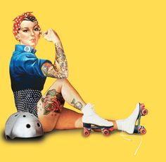 Pin up made into derby girl