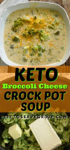 It's a recipe for keto broccoli cheese slow cooker soup and it's an easy way to enjoy a delicious low in carbs broccoli and cheese soup. This recipe is gluten-free and thickened only cheese for one…More 12 Indulgent Keto Friendly Meal Recipes Crock Pot Recipes, Keto Crockpot Recipes, Crock Pot Soup, Slow Cooker Soup, Ketogenic Recipes, Slow Cooker Recipes, Diet Recipes, Healthy Recipes, Ketogenic Diet