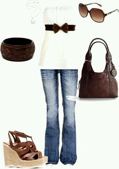 Brown and white. Super cute!