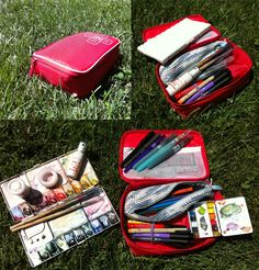 Materials for an art journal. Must have one.
