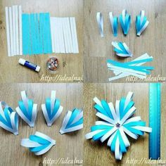 Image about diy in 🌻 Crafts 🌻 by 💜 Sweet Cabello 💜 Holiday Crafts, Christmas Crafts, Christmas Decorations, Christmas Ornaments, Paper Flower Backdrop, Paper Flowers Diy, Paper Crafts Origami, Diy Paper, Paper Medallions