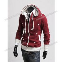 Autumn/Winter New Style Slim Double Breasted Design Hooded Pure Color Blouse For Men China Wholesale