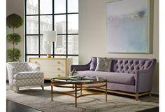 "Haydon 93"" Tufted Sofa, Lavender"