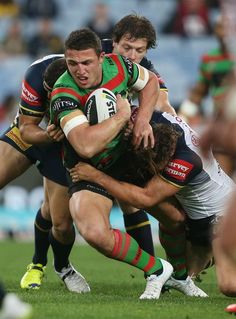 Pictures from the Rabbitohs' round 24 clash against the North Queensland Cowboys at ANZ Stadium. Rugby League, Rugby Players, Sam Burgess, Rugby Men, Beefy Men, Sport Icon, Men In Uniform, Cheerleading, Soccer