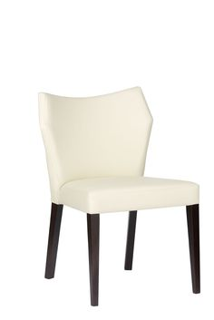 Solid wood legs and comfy leather backrest and  seat. Design by Klose.  #KloseFurniture #RestaurantFurniture #dinningroom #chair