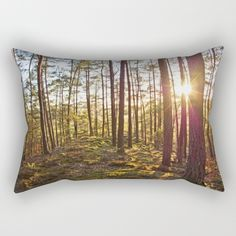Evening in the forest Rectangular Pillow