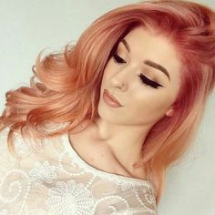Blorange in the air  Achieve that look by using dyeable Cliphair Extension   Perfect length, volume and colour! Free delivery worldwide. #haircolour #blorange