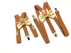 Father and Son Gold Bow tie Barnyard Suspenders Mens bowtie Rustic Wedding gold Ring Bearer Outfit Groomsmen Bow ties Toddler Boys bowties by DreamsareMagic on Etsy Groomsmen Suspenders, Suspenders For Kids, Bowtie And Suspenders, Wedding Suspenders, Toddler Bow Ties, Kids Bow Ties, Toddler Boys, Baby Boys, Gold Bow Tie