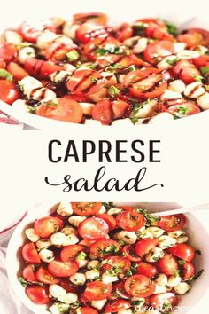 #Caprese #salad #capresesalad #balsamic Easy Caprese Salad  Only 10 minutes of prep and ready in less than 30 minutes Filled with fresh tomatoes mozzarella basil and topped with balsamicbrp classfirstletterOur page has been carefully arrange for you  Scroll down for further different sidedish active subjectpHere we offer you the highest attractively icon about the minutes you are looking for When you examine the caprese salad part of the figure you can get the massage we want to deliver Yo… Easy Potluck Recipes, Potluck Dishes, Easy Meals, Cooking Recipes, Healthy Recipes, Healthy Potluck, Vegetarian Recipes, Potluck Food, Potluck Salad