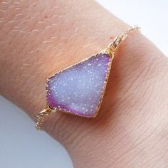Druzy Bracelet FLASH SALE FOR ONE HOUR High quality, never been worn.  Firm price!!! ACTUAL BRACELET IS THE BOTTOM PICTURE! Free People Jewelry Bracelets