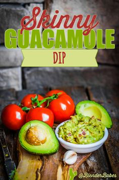 Easy Skinny Guacamole Dip #Recipe via @BlenderBabes | Looking for the best skinny guacamole recipe EVER? A wonderful party dip, this is a slimmed down skinny version of everyone's favorite, and with a Vitamix or Blendtec blender, this lower fat and calorie guacamole is even easier to make!