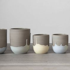 Pastel-Dipped Ceramic Mugs