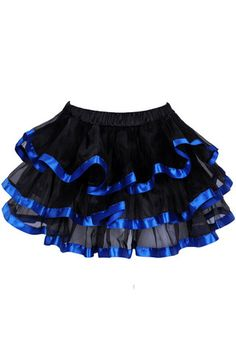 Blue skirt with tiered ruffles