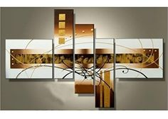 Hand-painted Golden Clouds Home Decoration Modern Abstract Oil Painting on Canvas wall art quadros decorativos Canvas Wood Frame, 5 Piece Canvas Art, Canvas Wall Art, Oil Painting Abstract, Abstract Wall Art, Photo Wall Decor, Modern Art Paintings, Oil Paintings, Cool Art Projects