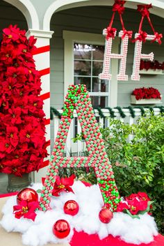 Make a Candy Monogram Wreath this Christmas! Tune into #homeandfamily weekdays at 10/9c on Hallmark Channel!