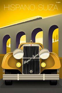 Hispano-Suiza. #vintage #car #poster