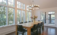 Dining Area with Doors to Screened-in Porch