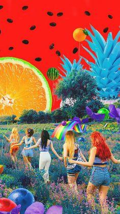 Red Velvet Poster – Wallpaper World L Wallpaper, Velvet Wallpaper, Summer Wallpaper, Lock Screen Wallpaper, Kpop Girl Groups, Kpop Girls, Kpop Wallpapers, Peek A Boo, Red Velvet Irene