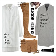"""""""Style Staple: Suede Boots"""" by martso ❤ liked on Polyvore featuring MANGO, Bobbi Brown Cosmetics and suedeboots"""