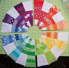 EZ Dresden Tutorial and Giveaway - Color Cog Mini Quilt