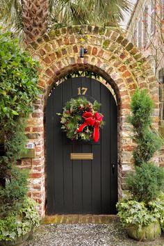Garden Door with Wreath, Charleston, SC © Doug Hickok  All Rights Reserved