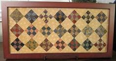 LongFramedMiniQuilt - gives me a good idea of what to do with my long, narrow frames!!