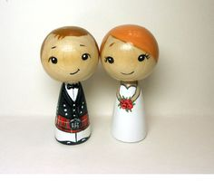 Scottish Wedding Toppers Redheads by licoricewits on Etsy